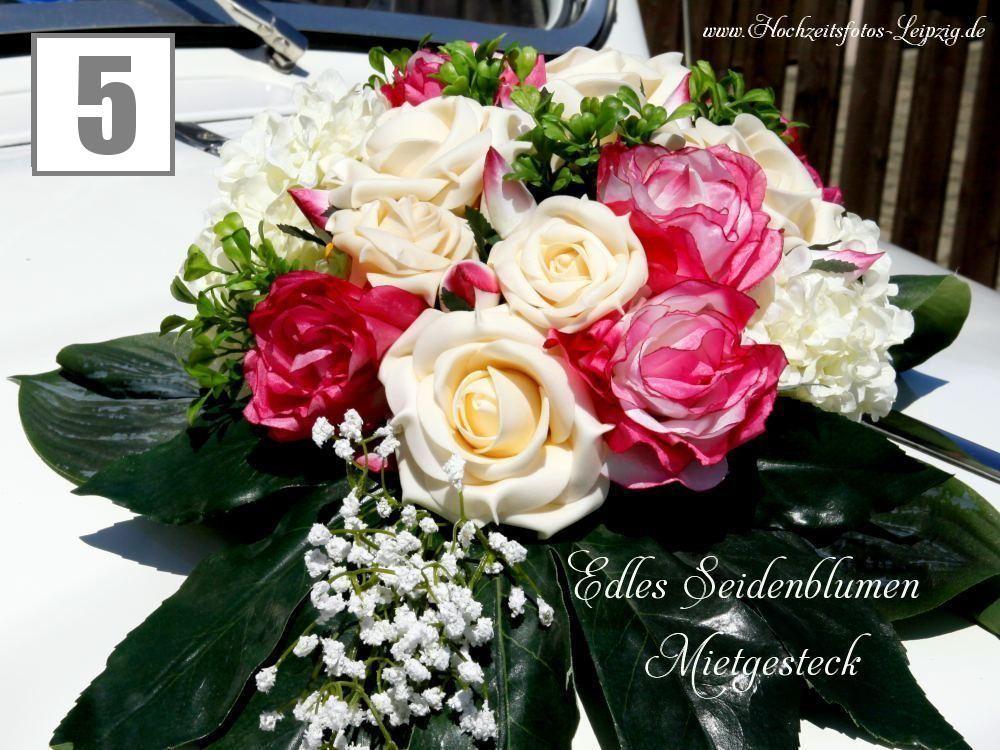 Foto Hochzeit Autogesteck Leipzig Gohliser Schlösschen (Hochzeitsfloristik Autodeko)