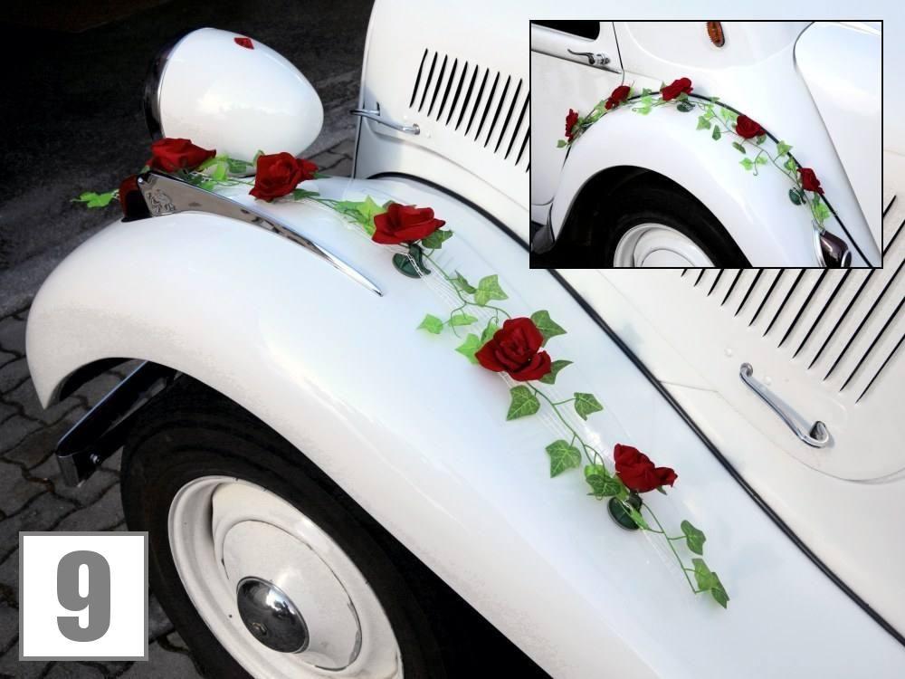 Foto Hochzeit Autogesteck Machern (Hochzeitsfloristik Autodeko)