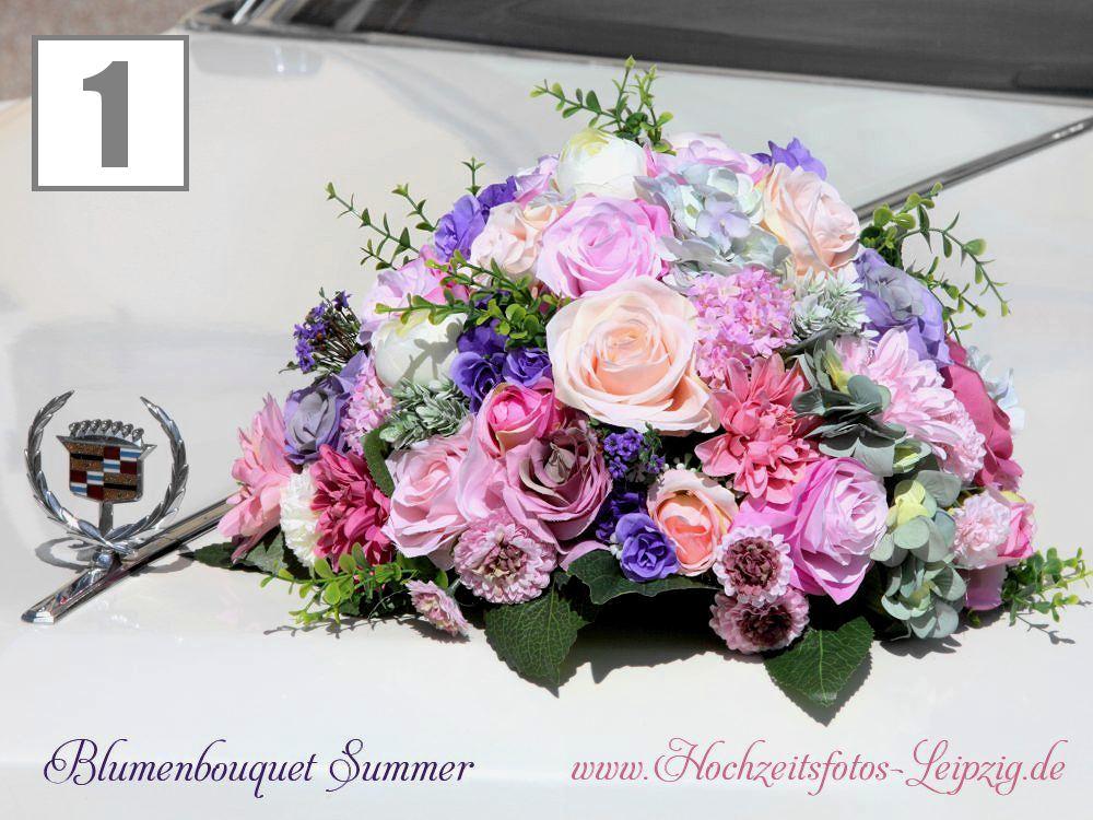 Blumengesteck Vintage für Hochzeitsauto