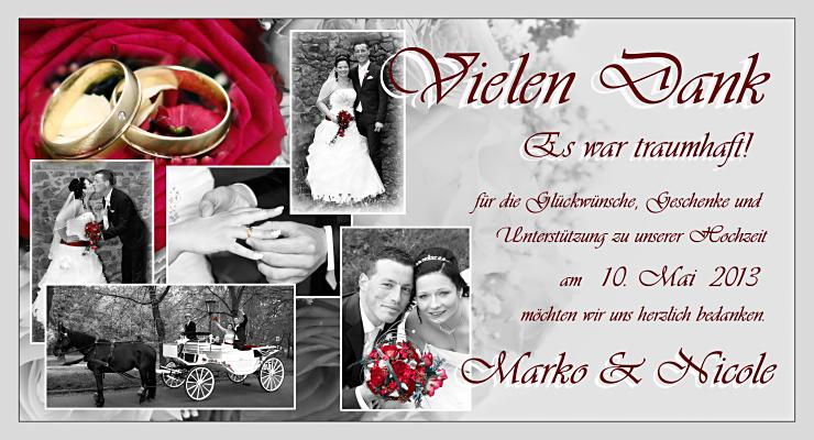 Hochzeitskarten Einladungskarten Danksagungskarten
